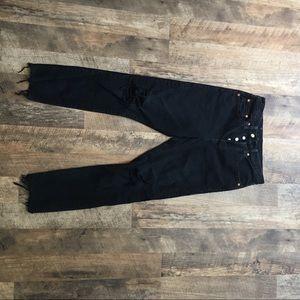 Black Distressed Levi's Premium Black Jeans
